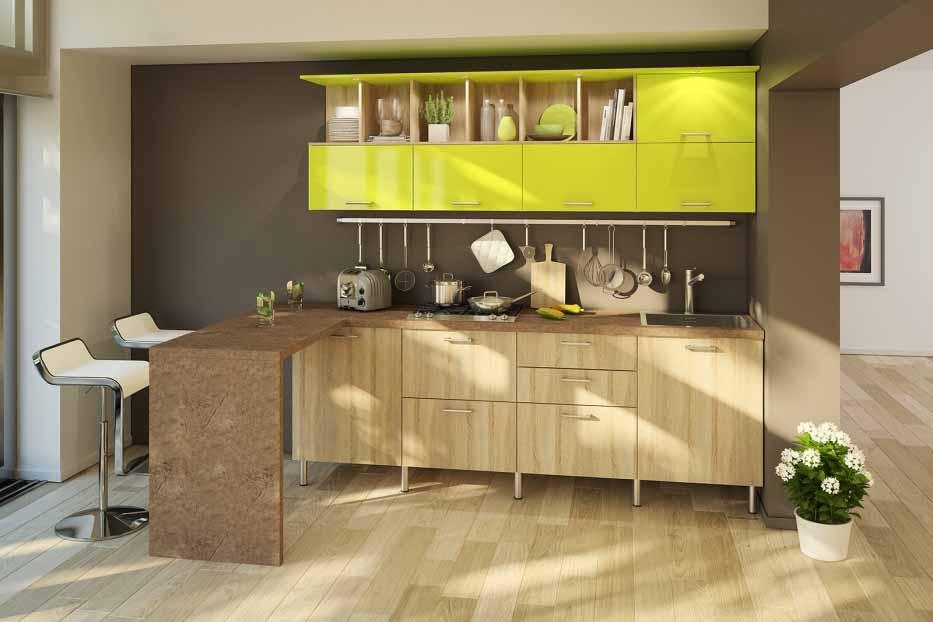 Как гармонично вписать зеленый гарнитур в интерьер кухни